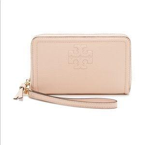 Tory Burch blush wallet wristlet